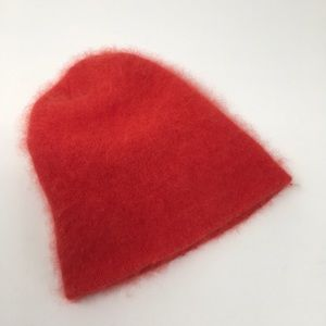 Red Angora Hat Beanie